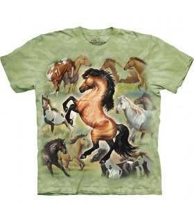 T-shirt Chevaux The Mountain