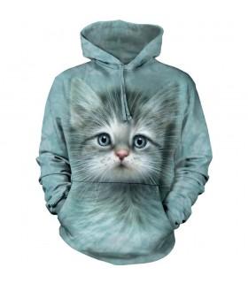 Blue Eyed Kitten Hoodie Sweatshirt