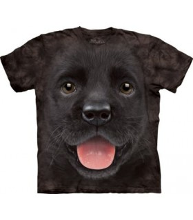 T-shirt Chiot Labrador Noir The Mountain