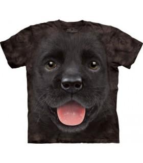 T-shirt Chiot Labrador Noir The Mountain