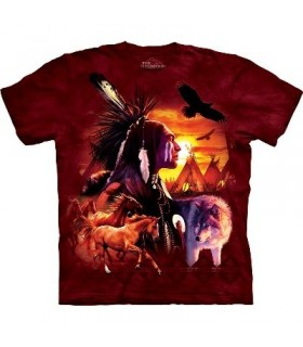 T-Shirt scène indienne par The Mountain