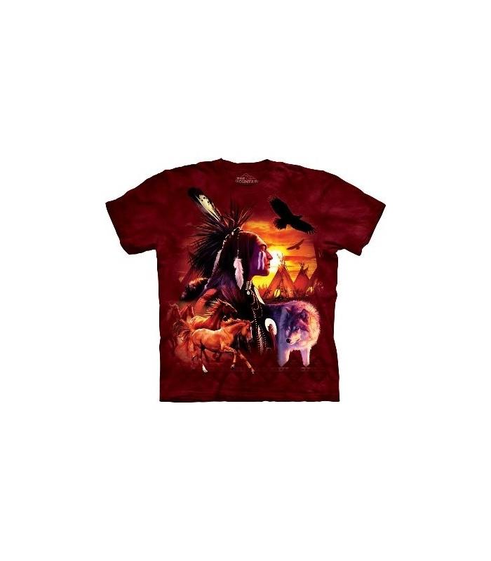 T-Shirt scène indienne par The Mountain