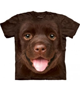 Big Face Chocolate Lab Puppy T Shirt
