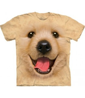 Big Face Golden Retriever Puppy T Shirt