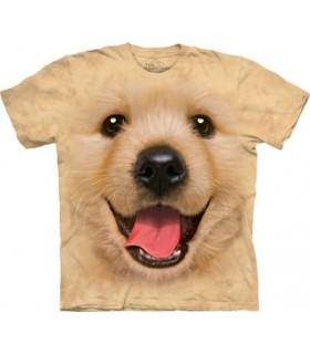 Big Face Golden Retriever Puppy T Shirt