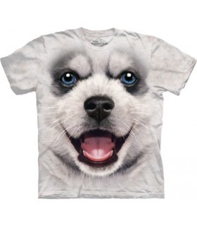 Big Face Siberian Husky Puppy T Shirt
