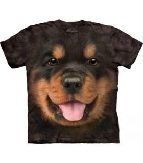 Big Face Rottweiler Puppy T Shirt