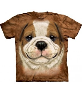 Big Face Bulldog Puppy T Shirt