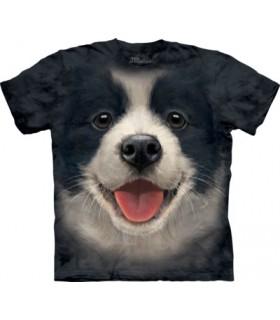 Big Face Border Collie Puppy T Shirt