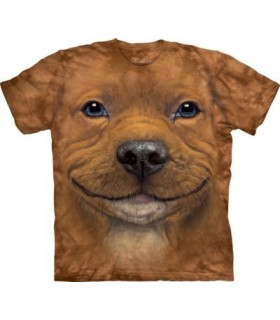 Big Face Pitbull Puppy T Shirt