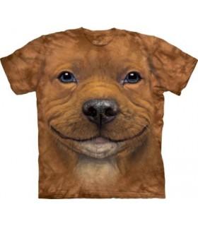 Big Face Pitbull Puppy T Shirt