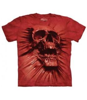T-shirt Crâne Rouge The Mountain