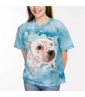 Corey - T-shirt chein sous l'eau par Seth Casteel