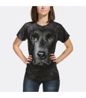 T-shirt Femme Labrador Noir The Mountain