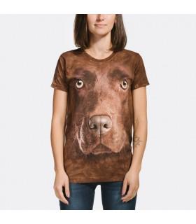 T-shirt Femme Labrador Chocolat The Moutain