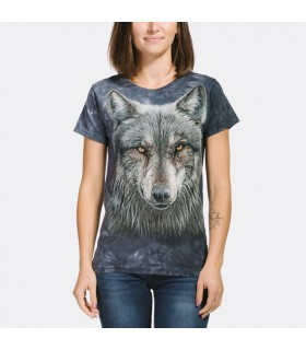 Warrior Wolf Ladies T Shirt