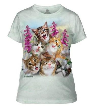 Kittens Selfie Ladies T Shirt