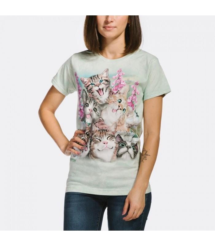 T-shirt pour femme Selfie de chatons The Mountain
