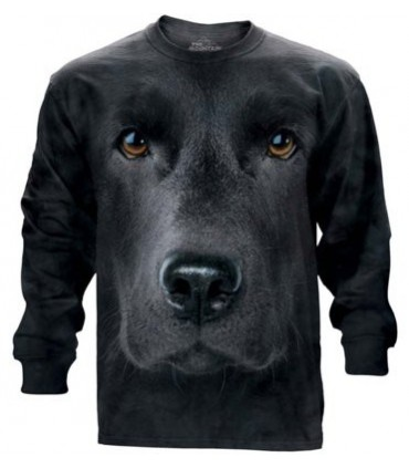 T-shirt manche longue Labrador Noir The Mountain