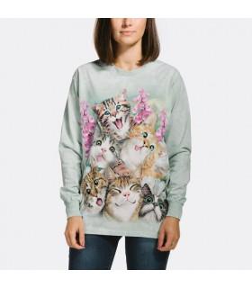Kittens Selfie Longsleeve T Shirt