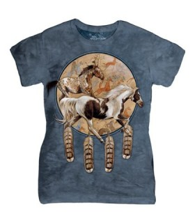 The Mountain Ladies Soquili Shield Horse T Shirt