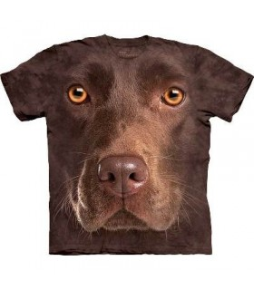 T-Shirt Labrador chocolat par The Mountain