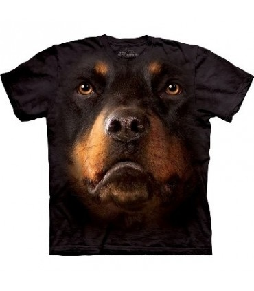 Rottweiler Face - Dogs T Shirt by the Mountain