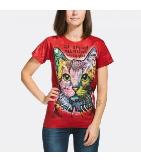 Nine Lives Ladies Cat T Shirt