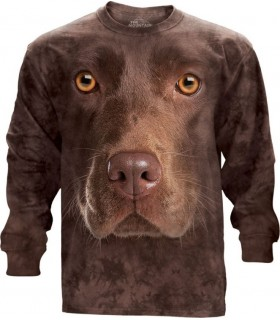 Chocolate Lab Face Longsleeve T Shirt