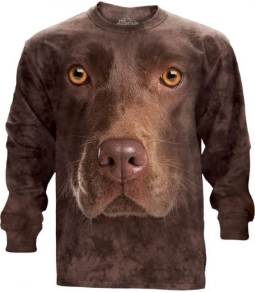 T-shirt manche longue Labrador Chocolat The Mountain