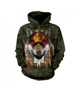 Native Wolf Spirit Hoodie