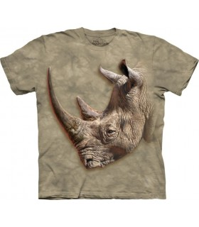 T-Shirt Rhinocéros Blanc - The Mountain