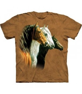 Three Horse Portrait - Horses Shirt