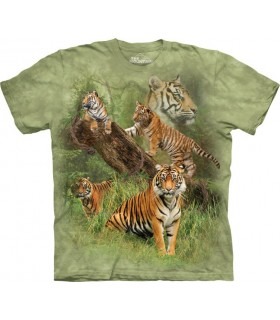 Wild Tiger Collage T Shirt