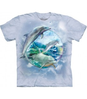 T-shirt Bulle de Dauphins The Mountain