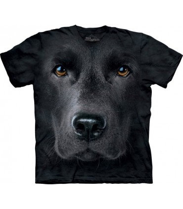 Black Lab Face - Dogs T Shirt by the Mountain