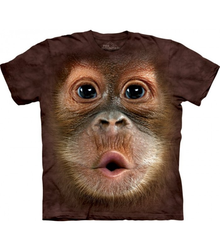 Big Face Baby Orangutan - Primate T Shirt Mountain