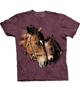 Two Hearts - Horse Shirt The Mountain