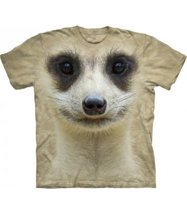 Meerkat Face - Exotic Wildlife T Shirt by The Mountain