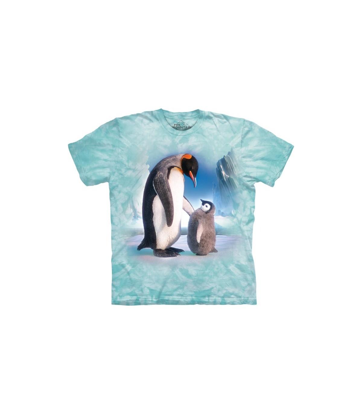 The Mountain Enfant T-Shirt Empereur Pingouins Jeunesse L Taille Violet Nwt