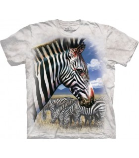Zebra Portrait T Shirt