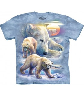 Sunrise Polar Bear Collage T Shirt