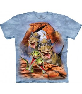 Selfie de Dinosaures - T-shirt Dinosaure The Mountain