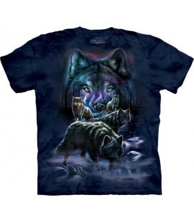 T-shirt Groupe de Loups The Mountain