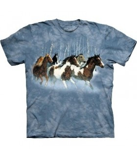 T-Shirt course en hiver par The Mountain