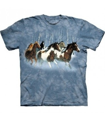 Winter Run - Horses Shirt Mountain