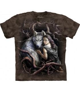 Soul Bond - T-shirt Loup Anne Stokes