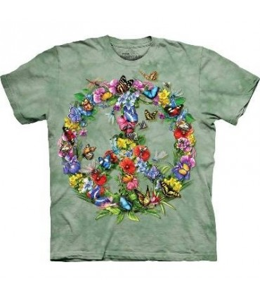 Butter Dragon Peace - Butterfly T Shirt by the Mountain