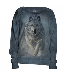 Wolves Plow Womens Slouchy Crew