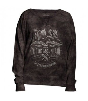 Take Me Womens Outdoor Adventure Slouchy Crew